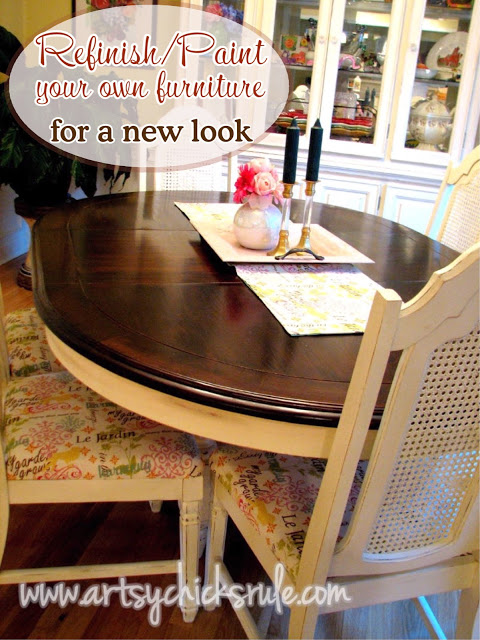 Refinish/Paint your own furniture for a brand new look / Artsy Chicks Rule