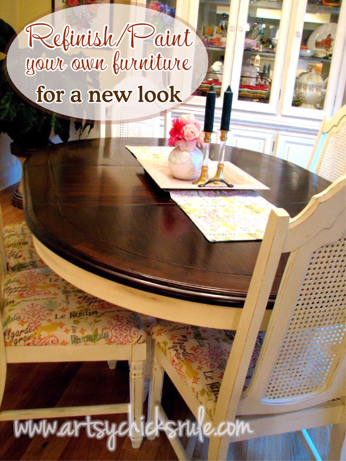 China Cabinet and Dining Table Re-New - Artsy Chicks Rule®