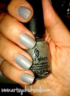 Zoya Harley with China Glaze Fairy Dust-artsychicksrule.com