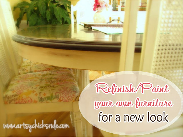 Save $$ and refinish your own furniture for a fresh new look! / artsychicksrule.com