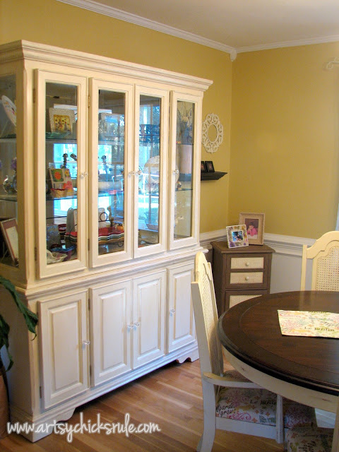China Cabinet and Table Re-do artsychicksrule.com