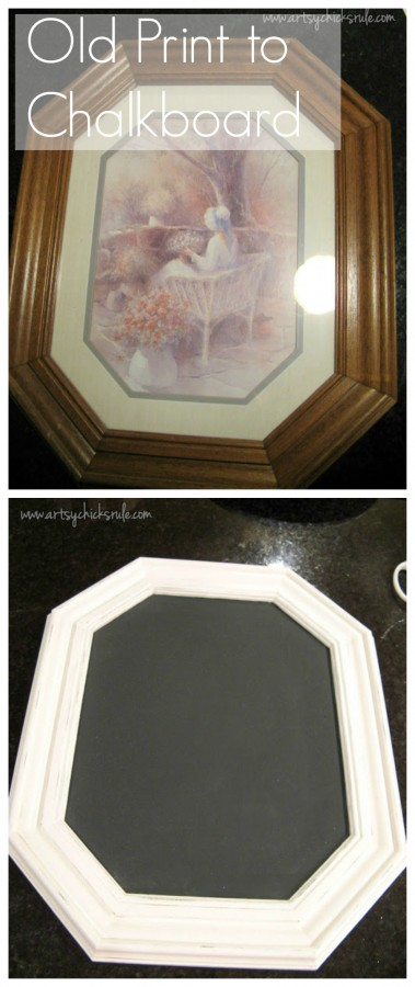 Old pictures to chalkboards!! SO easy!!!