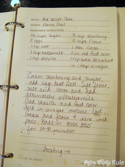 Old Family Recipe, the REAL Red Velvet Cake Recipe - Artsy Chicks Rule