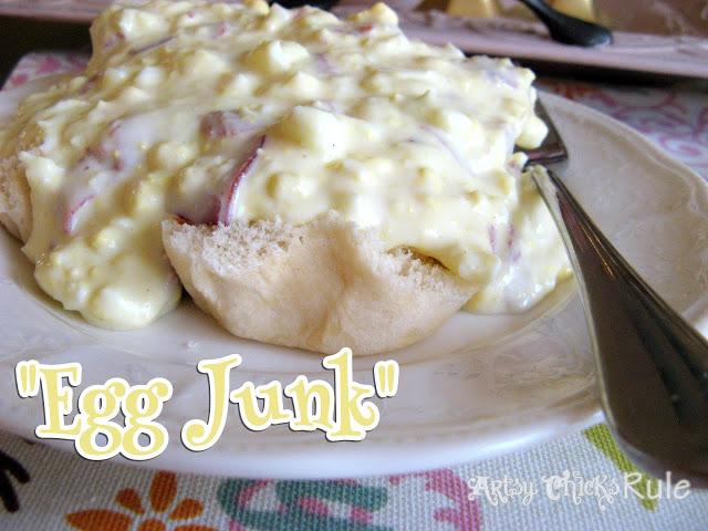 """""""Egg Junk"""" Recipe- Artsy Chicks Rule"""