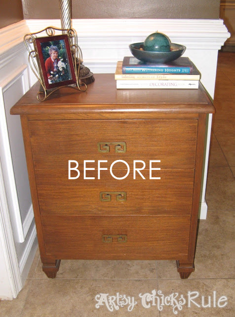 Super Easy Way To Update Wood Stained Furniture Artsy