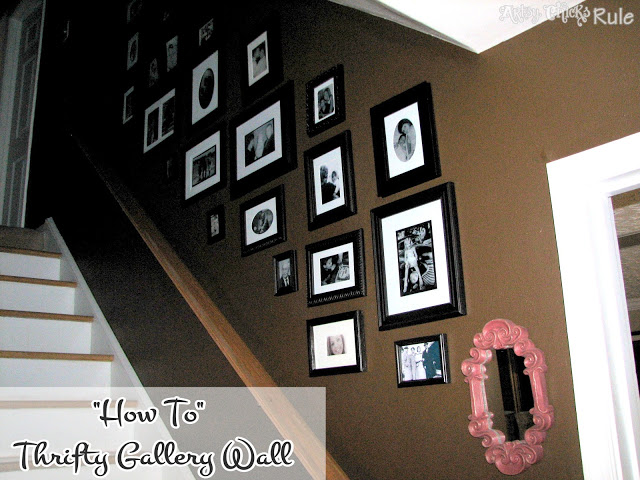 """How To"" - Thrifty Gallery Wall - artsychicksrule.com"