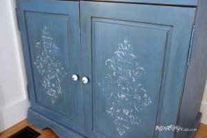 Multi Layer Blue Chalk Paint w/Dark Wax