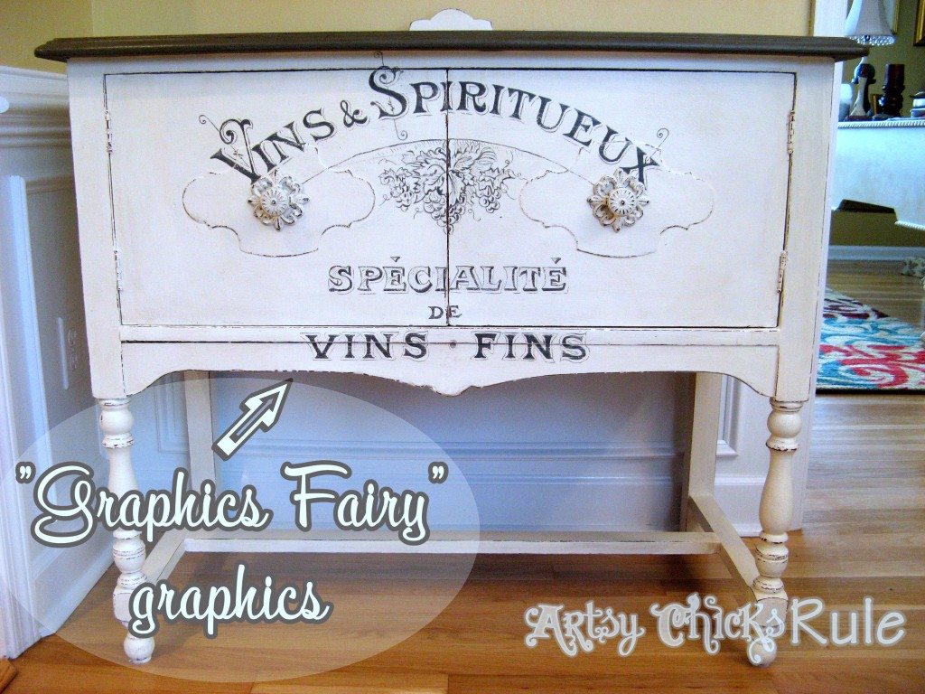 Antique Sideboard Makeover - 2 Times the Charm-Graphic's Fairy Graphics