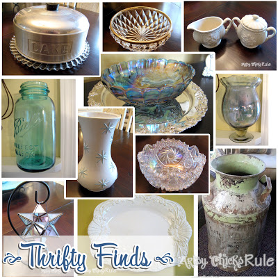 "Latest Haul of Thrifty Finds ...""Treasure Hunting"" / Artsy Chicks Rule"