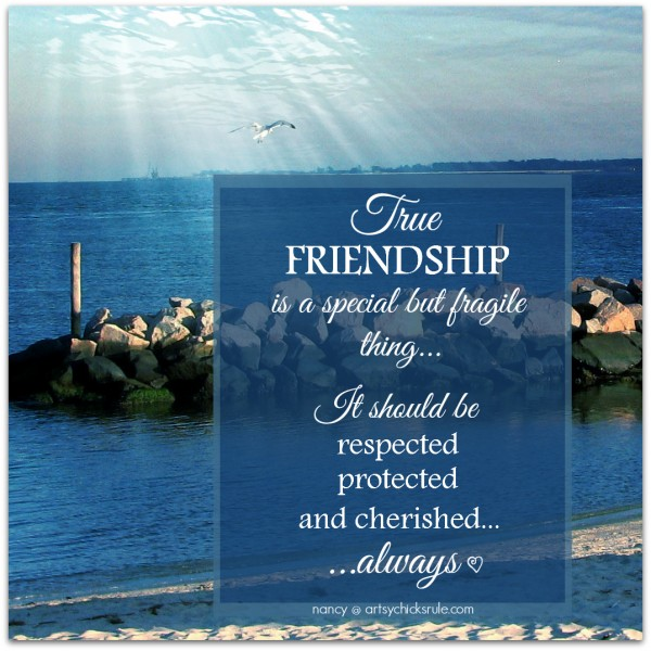 True Friendship Quote - artsychicksrule.com #quotes #sayings #friendship