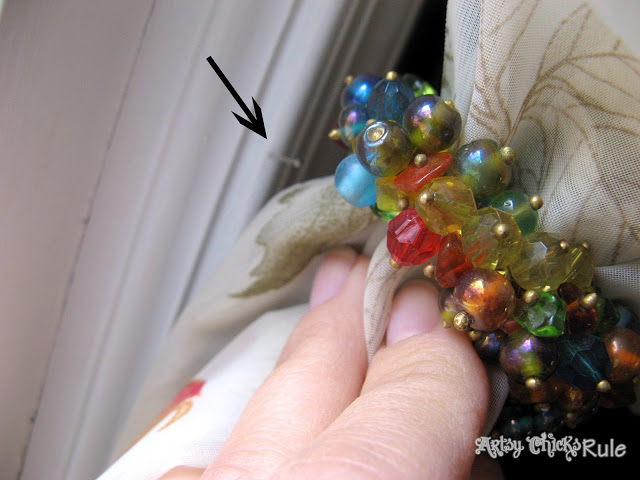"Cool Use for Napkin Rings-Drapery ""Hold-Backs"" - artsychicksrule.com"