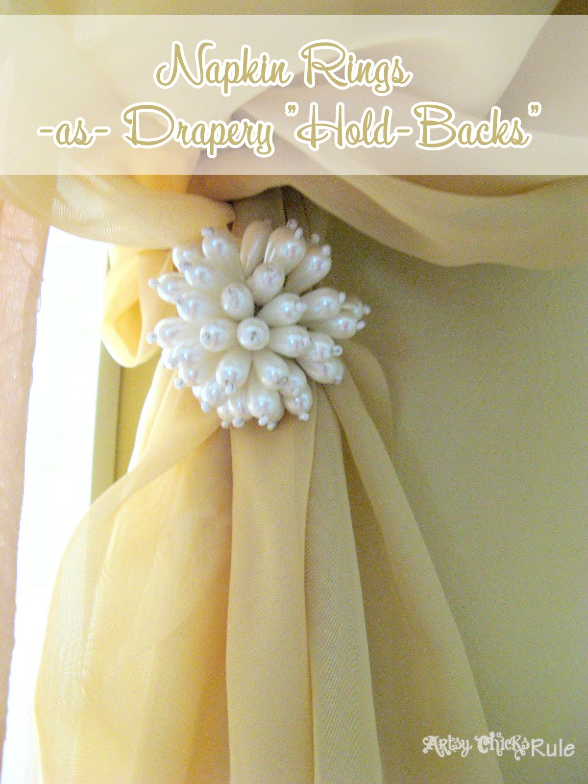 Cool Use For Napkin Rings As Drapery Quot Hold Backs