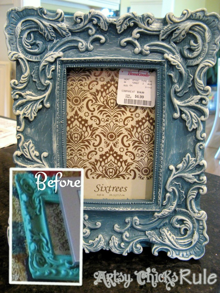 HHome Goods Frame / Chalk Painted - Artsy Chicks Rule
