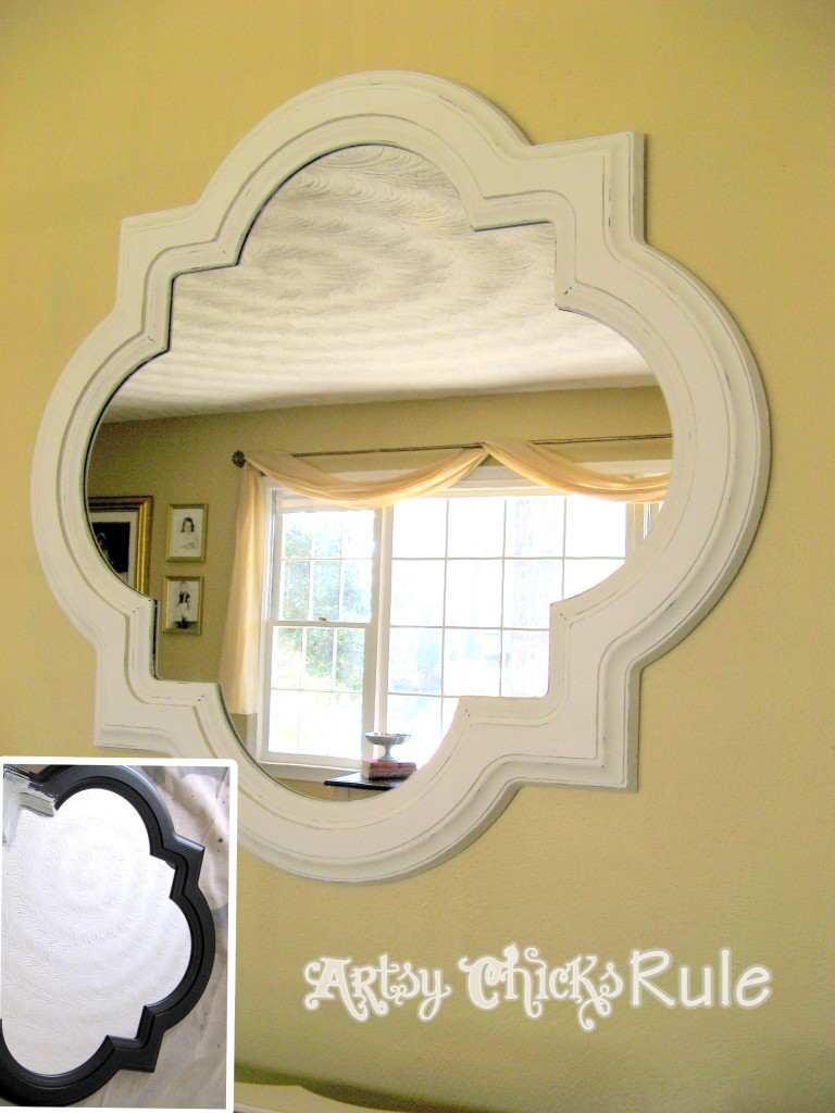 Home Goods Mirror / Chalk Painted - Artsy Chicks Rule