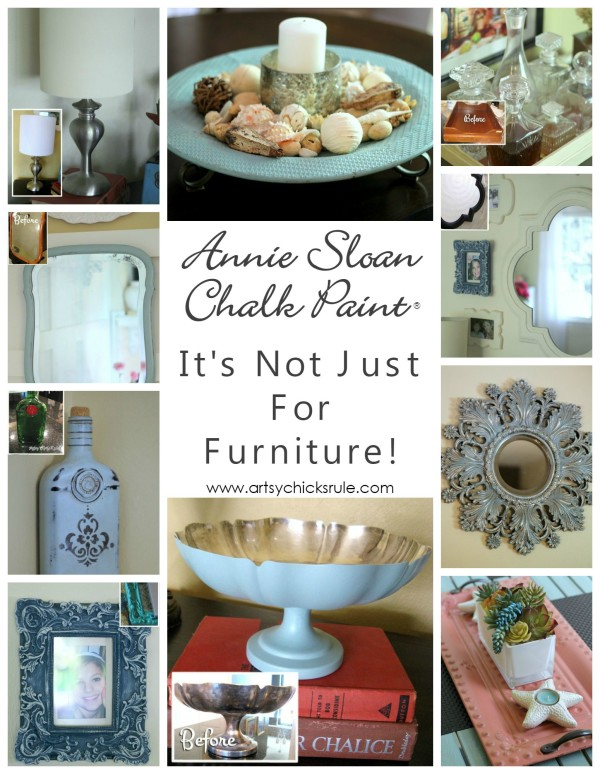 Annie Sloan Chalk Paint - It's Not Just For Furniture - You can use for almost anything! - #chalkpaint #ascp #anniesloan artsychicksrule.com
