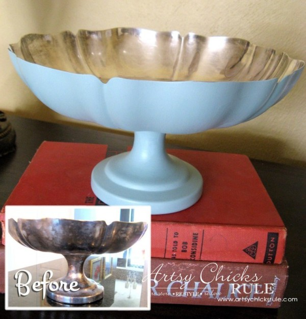 Annie Sloan Chalk Paint - It's Not Just For Furniture - metal bowl! - #chalkpaint #ascp #anniesloan artsychicksrule.com
