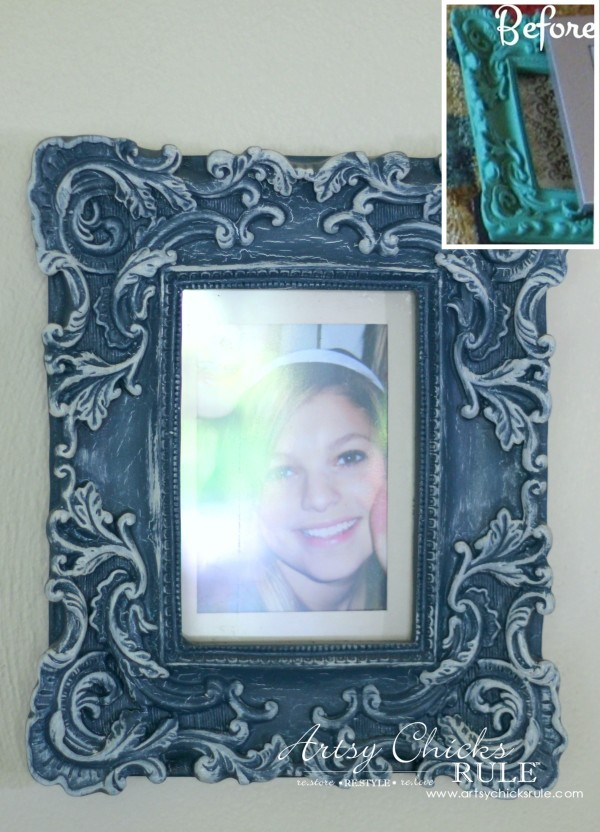 Annie Sloan Chalk Paint - It's Not Just For Furniture - paint then drybrush frame! - #chalkpaint #ascp #anniesloan artsychicksrule.com