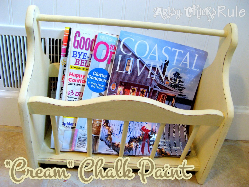 70's Magazine Rack / Thrifty Find / Chalk Painted - Artsy Chicks Rule