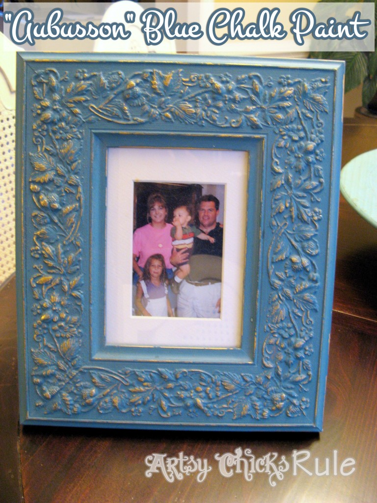 Aubusson Blue Chalk Painted Frame / Artsy Chicks Rule