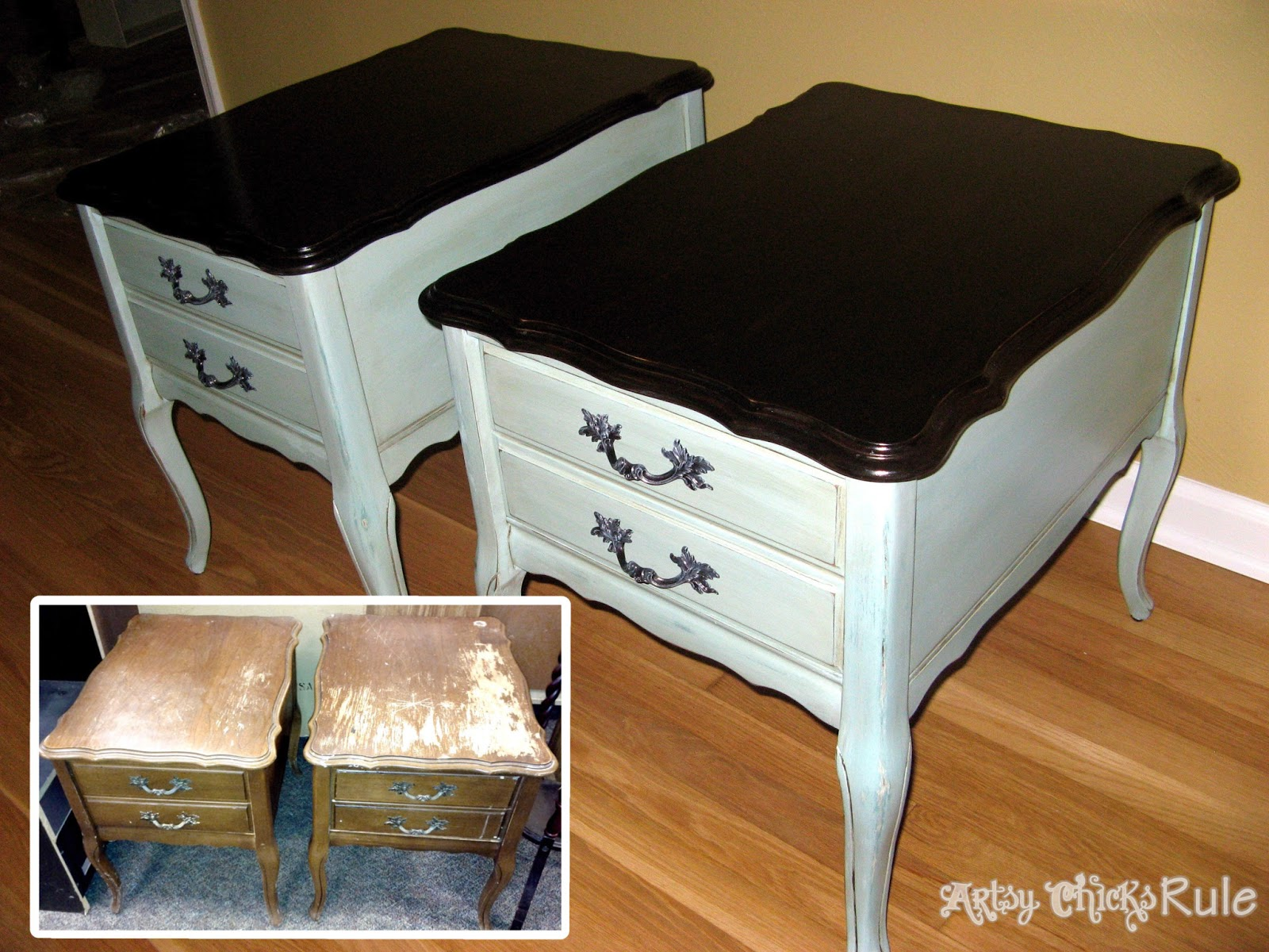 A collection of before after furniture pieces artsy for Before and after furniture makeovers