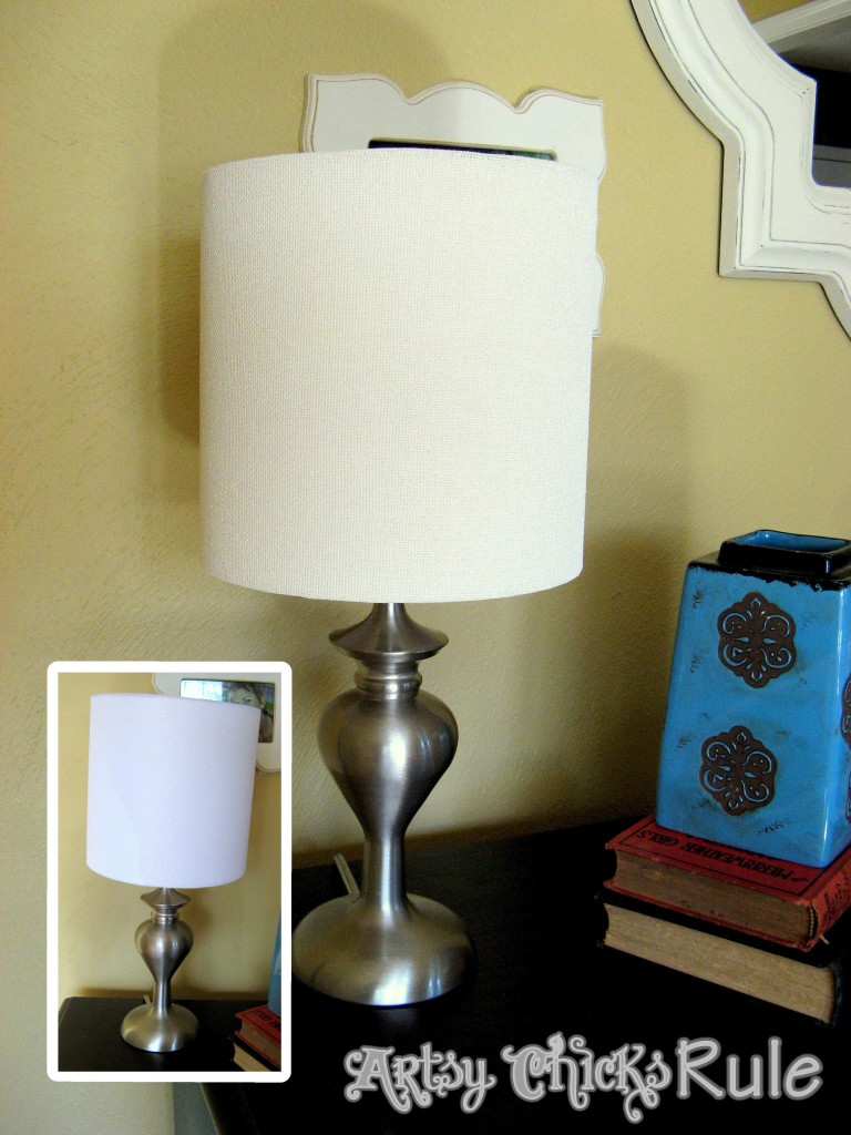 Old White Chalk Painted Lampshade / Artsy Chicks Rule