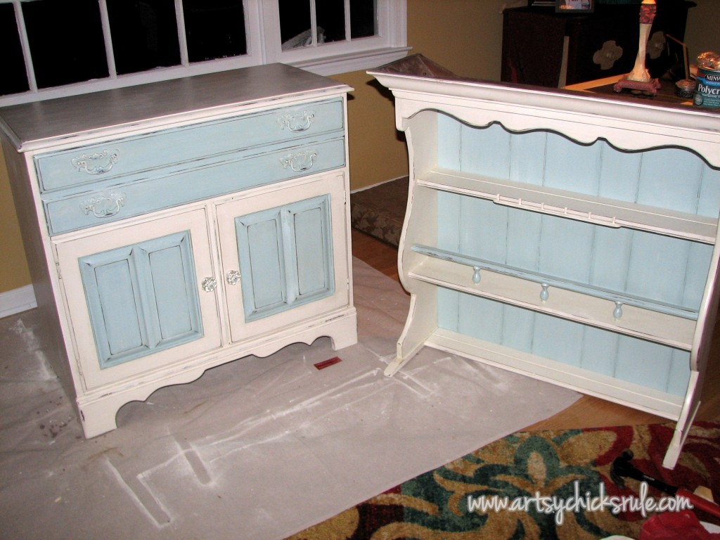 Blue Hutch Chalk Paint 1