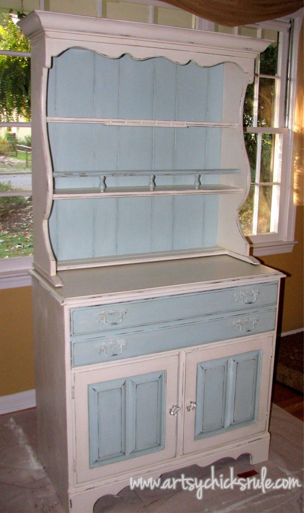 Blue Hutch Chalk Paint Done 2