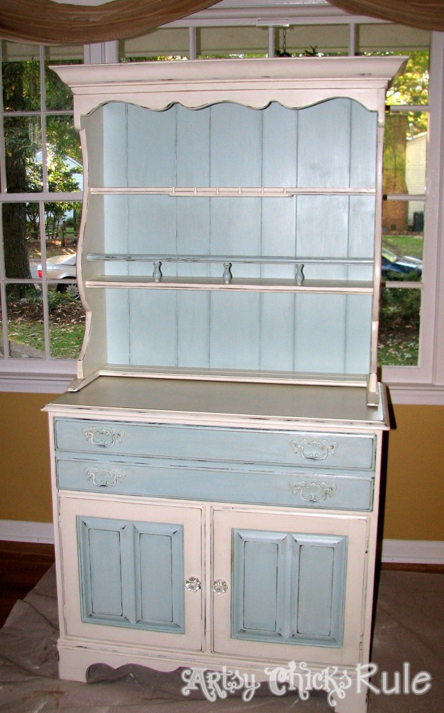 Blue Hutch Chalk Paint Done