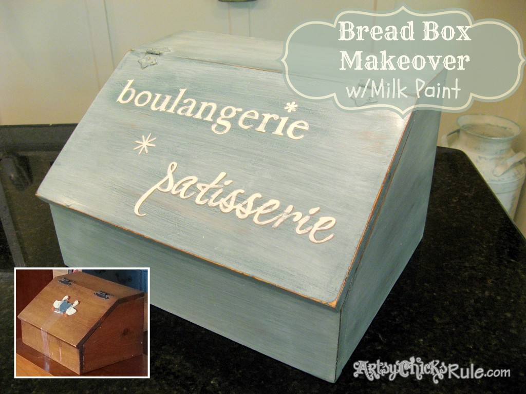 Bread Box Makeover Before-After Tutorial / Miss Mustard Seed Milk Paint