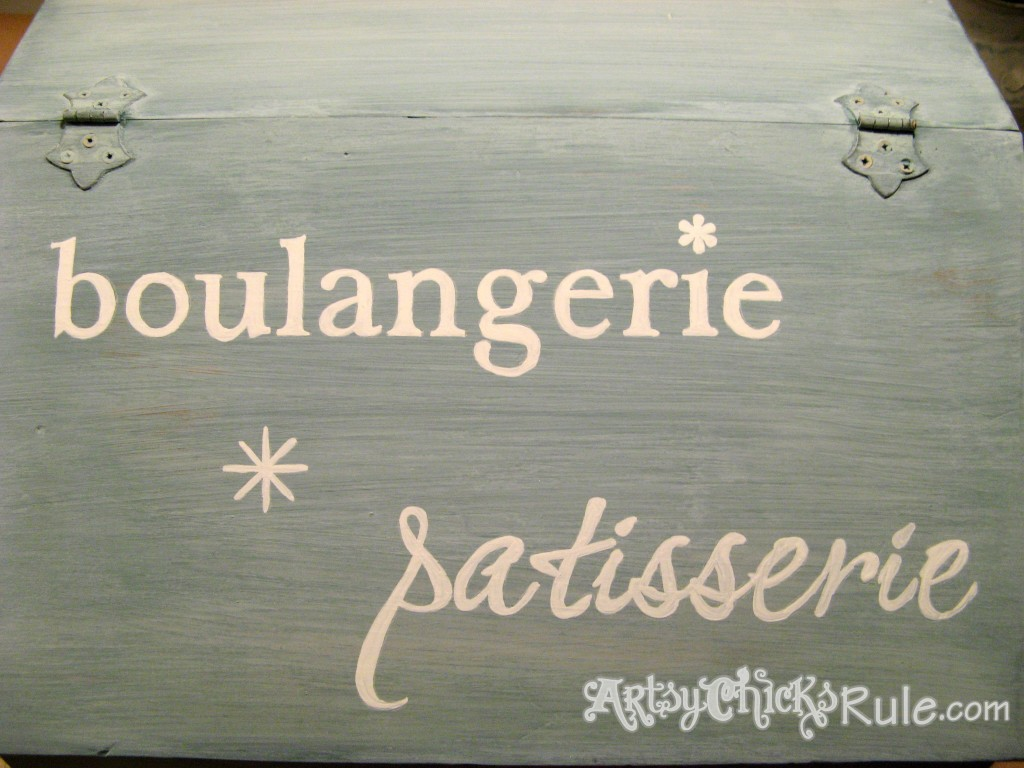 Bread Box Makeover - Pure White Chalk Paint Graphics/Miss Mustard Seed Milk Paint