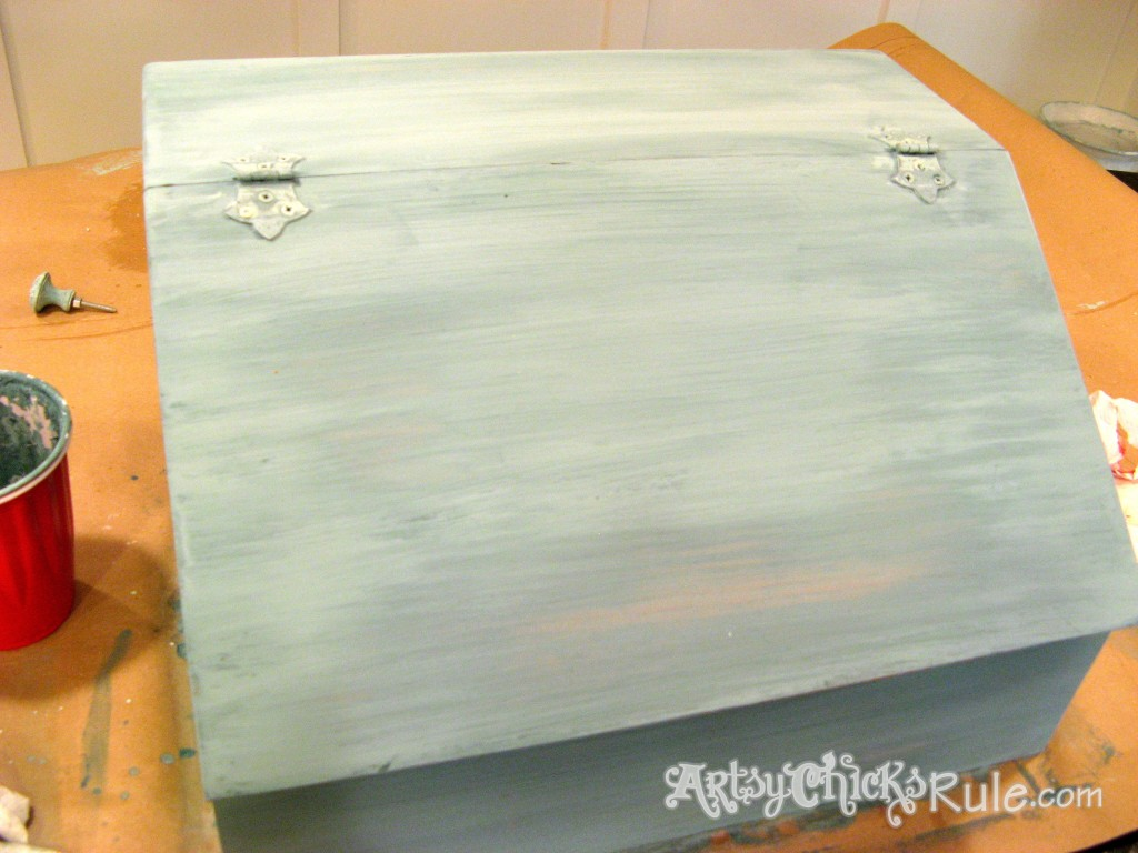 Bread Box Second Coat- Ironstone Milk Paint / Miss Mustard Seed Milk Paint