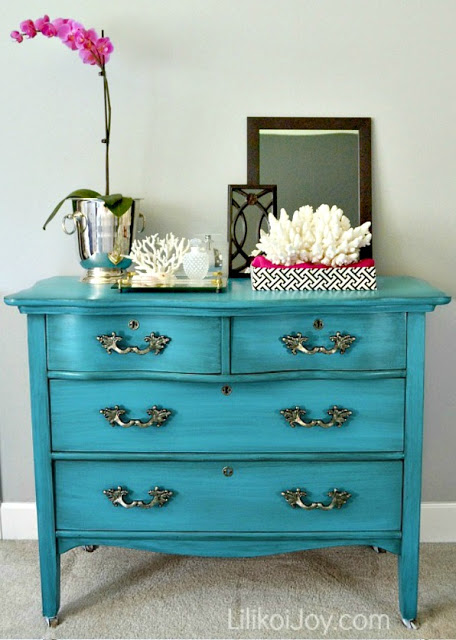 Craigslist Dresser Gets a Colorful Makeover