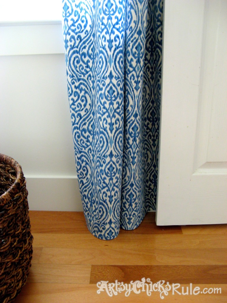No Sew Curtain Panels - artsychicksrule.com #nosew