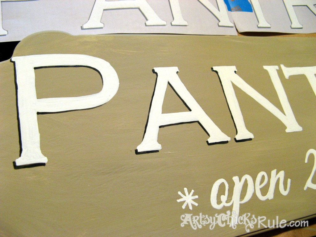 Pantry Sign with Shadowing