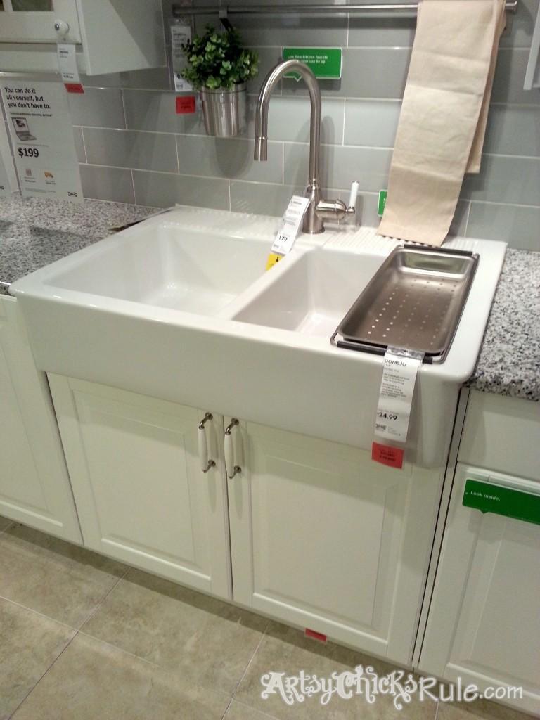 Farmhouse Sink-Kitchen Redo/ IKEA/ Artsy Chicks Rule