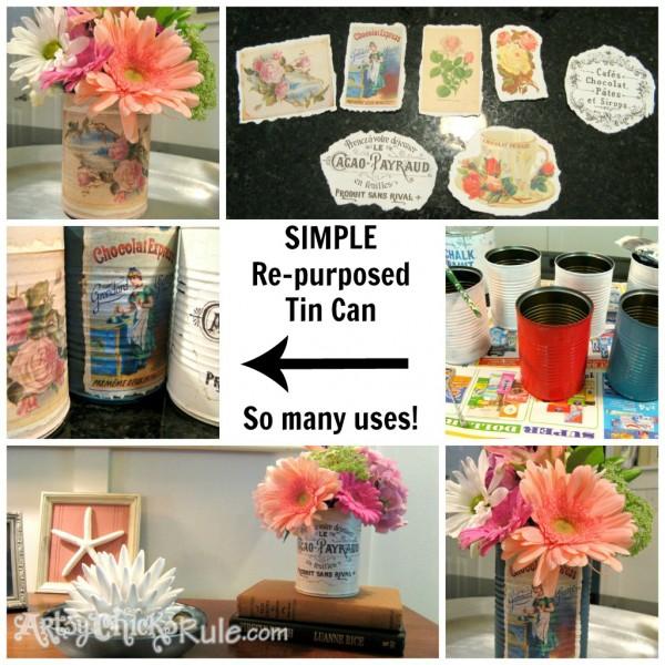 DIY-Decorative Repurposed Tin Can Steps