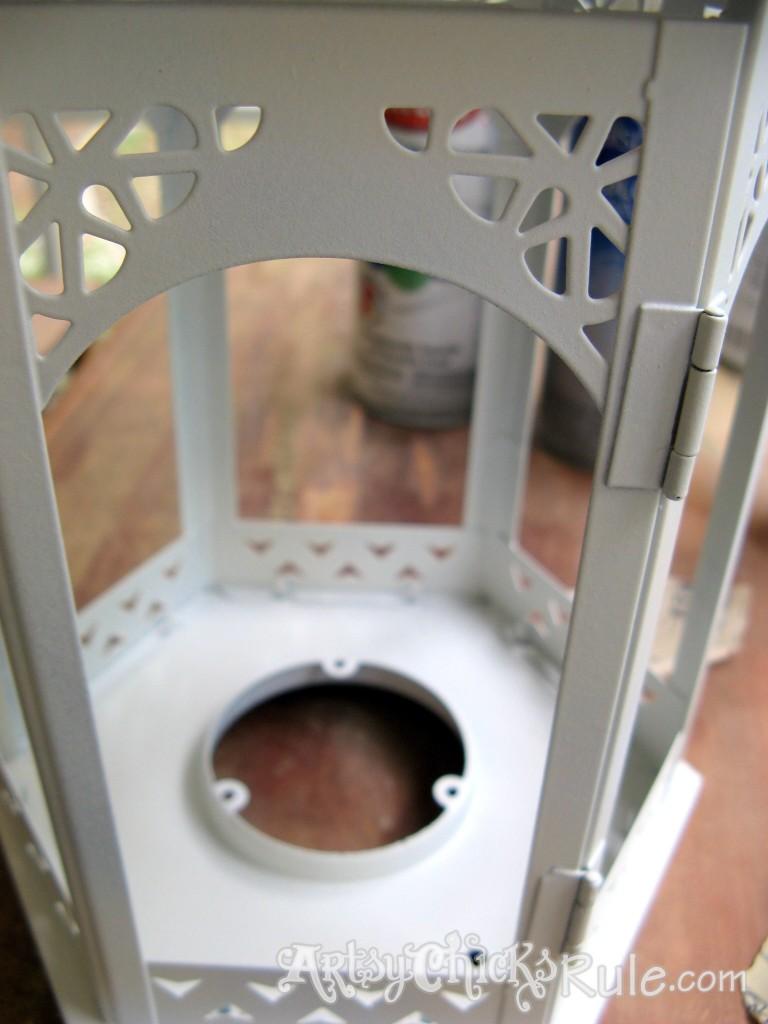TJ Maxx Lantern Makeover  {spray paint & distressing} / Artsy Chicks Rule