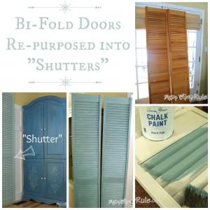 Bi-Fold Doors Turned Shutters
