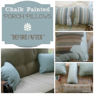 Chalk Painted Pillows