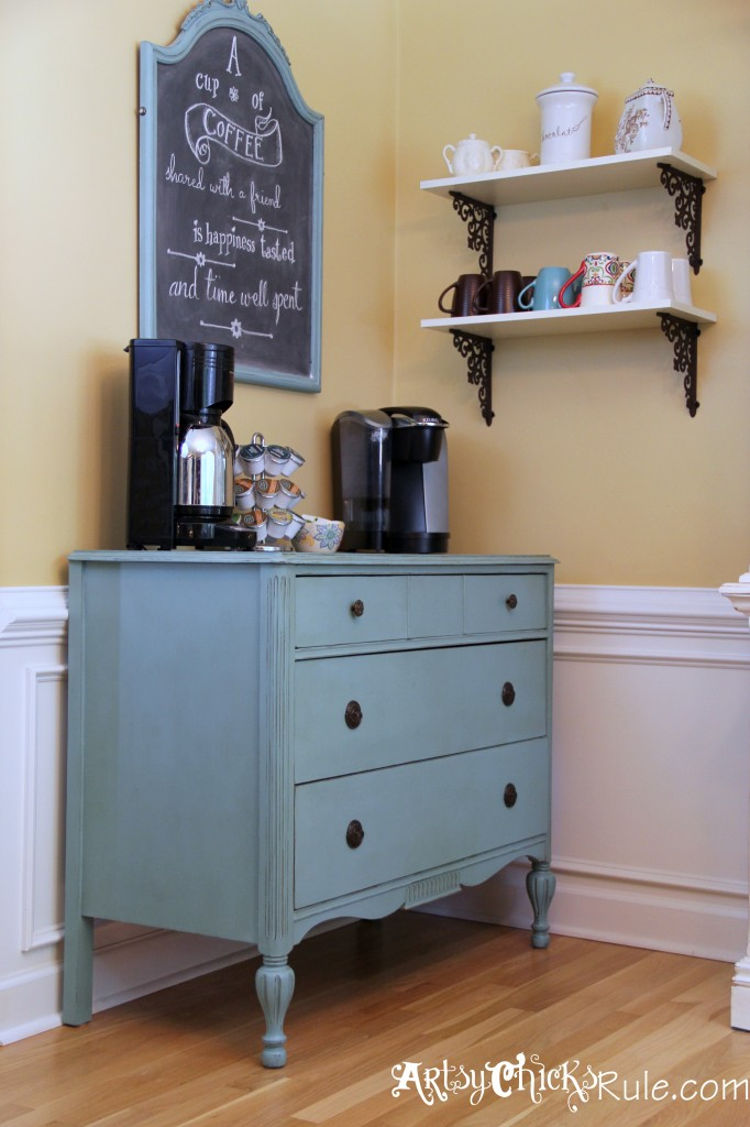 Coffee Bar with Shelves