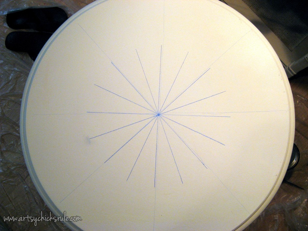 Compass Rose Table Top Drawing 1
