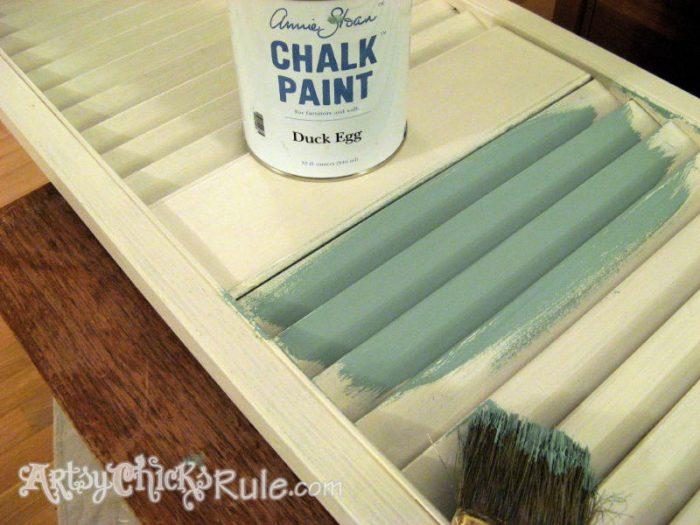 Duck Egg Blue Shutters Repurposed - Duck Egg Blue Chalk Paint