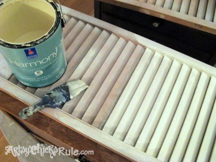 Duck Egg Blue Shutters Repurposed - First Coat- Latex