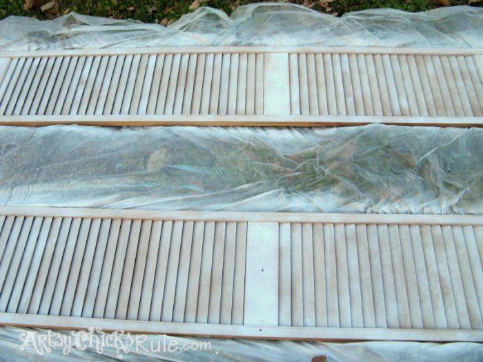 Repurposed Bi Fold Doors Duck Egg Blue Chalk Paint Artsy Chicks Rule