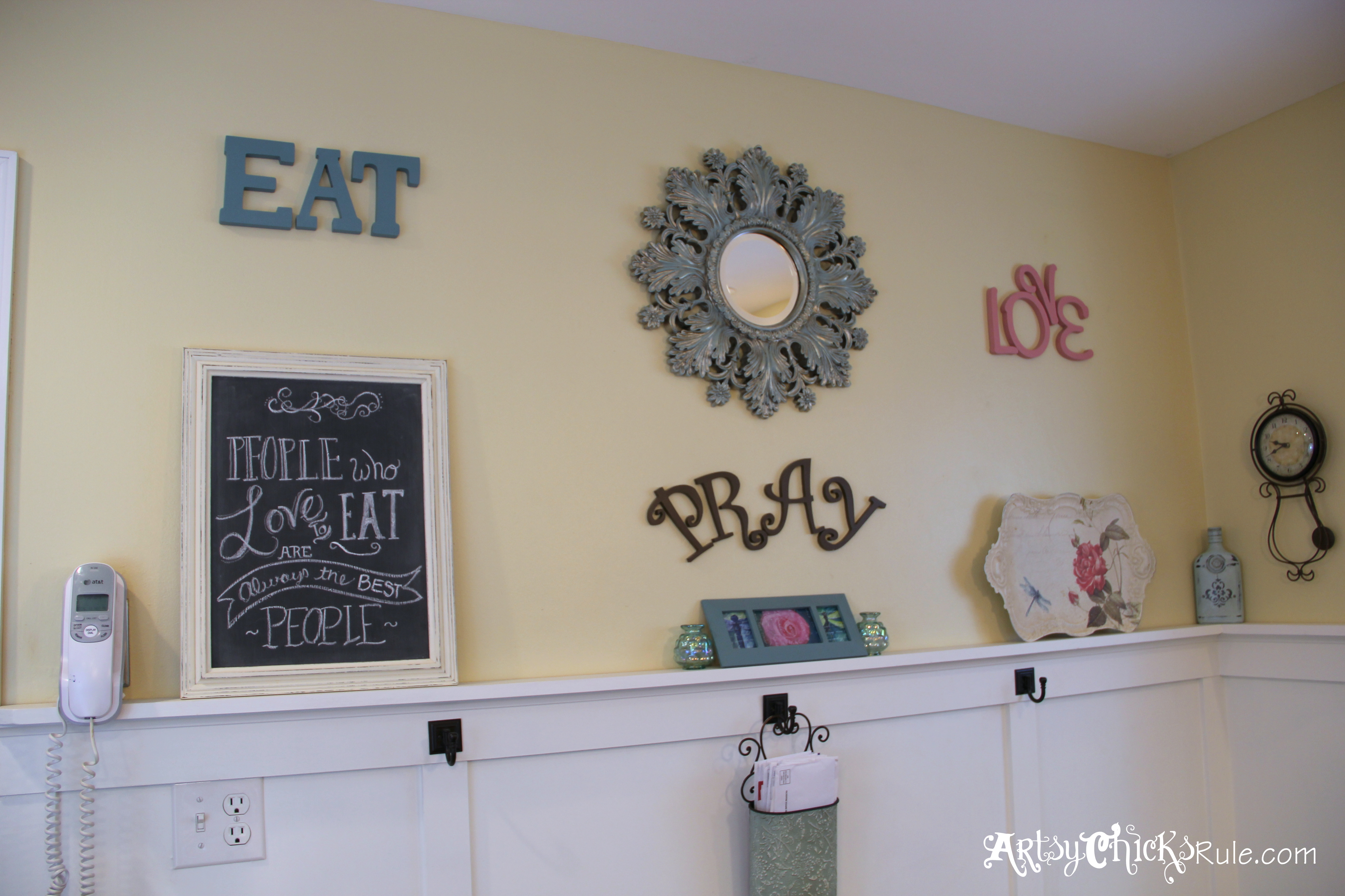 Eat Pray Love A Gallery Wall Artsy Chicks Rule
