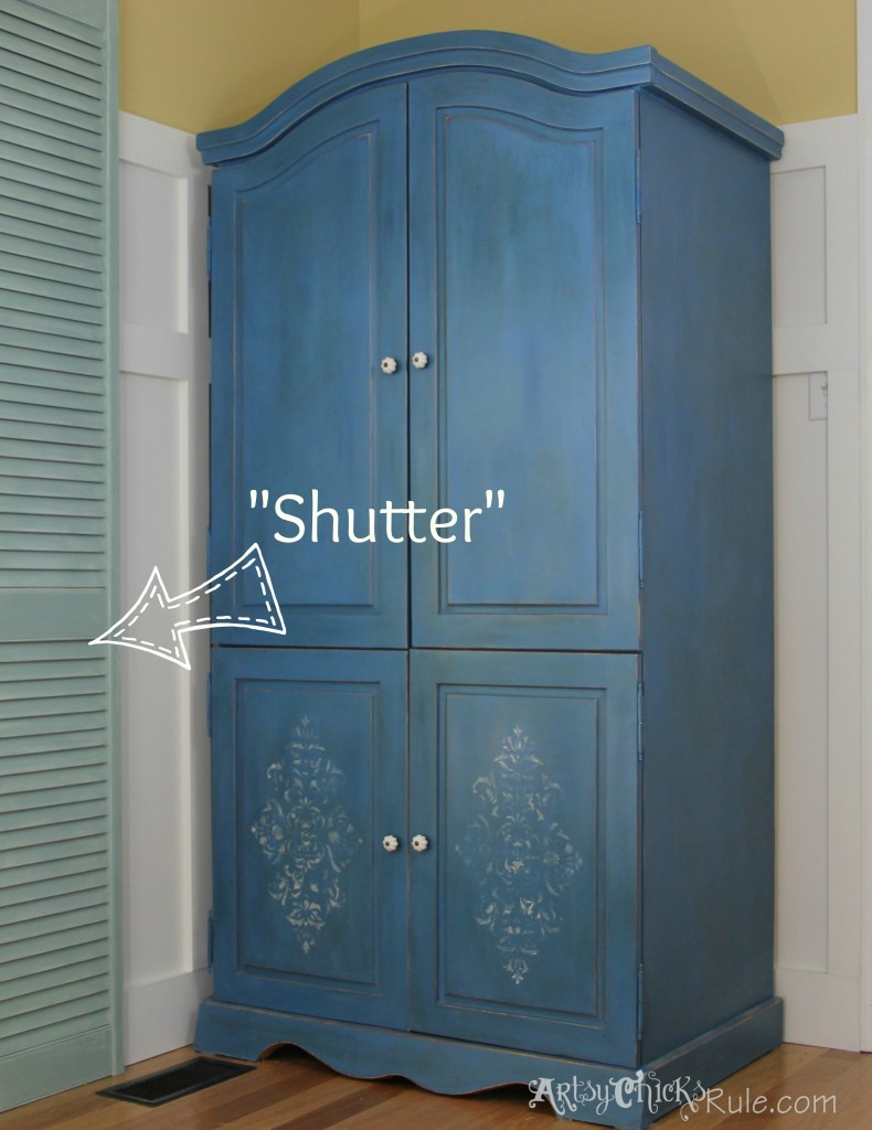 Shuttered French Doors