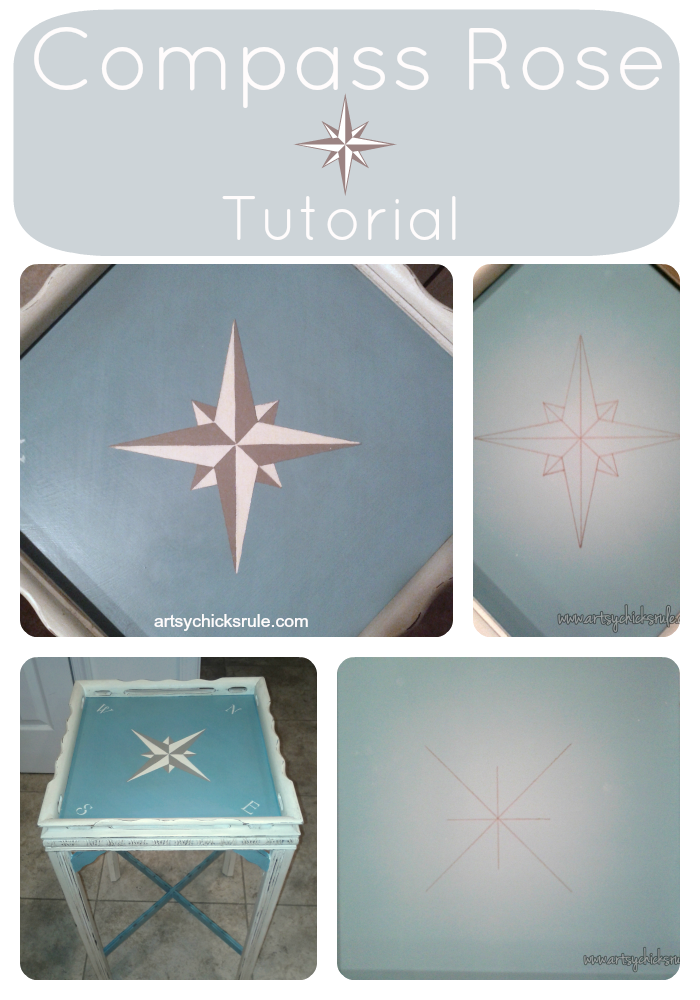 I LOVE this style of compass rose!! So easy to create too!!!