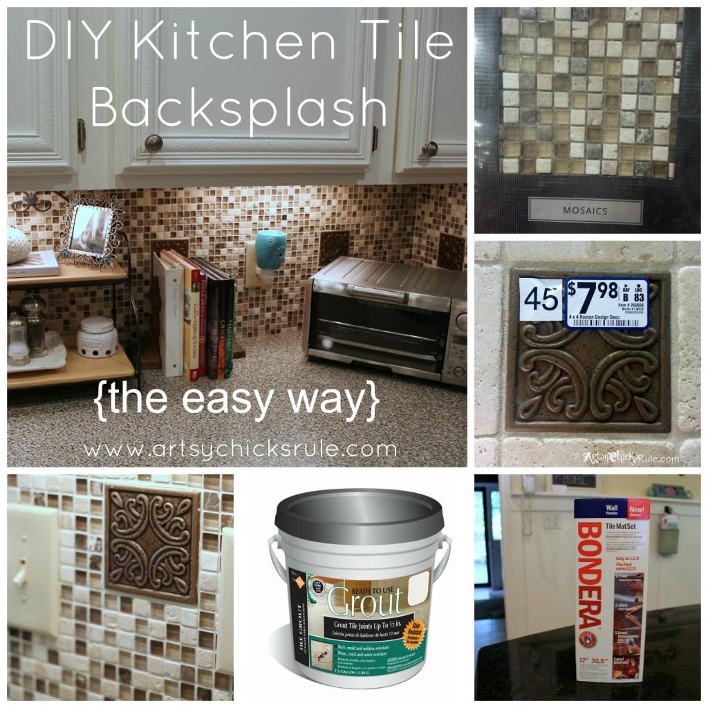 Diy Kitchen Backsplash: Kitchen Tile Backsplash {Do-It-Yourself}