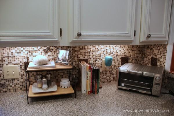 Kitchen Tile Backsplash - Complete artsychicksrule.com #backsplash #tile #diy