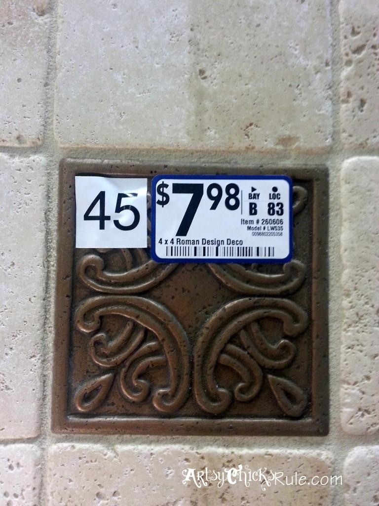 Kitchen Tile Backsplash - Medallian- artsychicksrule.com #backsplash #tile #diy